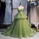 New style, long temperament elegant dress, green spaghetti strap dress,Custom Made