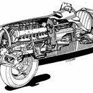 1938 Alfa Romeo Tipo 158 cutaway