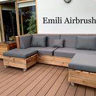 Garten Möbel selber gebaut 🙂