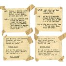 Cue cards from back of Steve's shield during U.S.O. performance