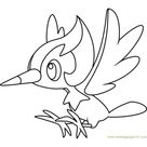 Pikipek Pokemon Sun and Moon Coloring Page for Kids - Free Pokemon Sun and Moon Printable Coloring Pages Online for Kids - ColoringPages101.com | Coloring Pages for Kids