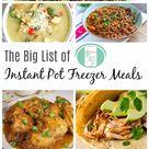 The Big List of Instant Pot Freezer Meals