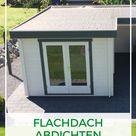 Gartenhaus Flachdach abdichten