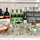 Rustic Farmhouse Baby Shower - Pop of Gold