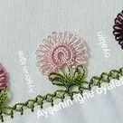 24İğne Oyası çiçek yazma  modeli yapımı,iğne oyası örnekleri yapılışı,needle art