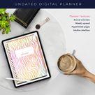 Digital Planner   Goodnote planner   Ipad Planner   Digital journal   Digital Stickers   Digital Planner Stickers   Wild Rainbow Zebra