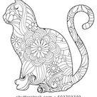 Vetor stock de Colorir página do livro com gato (livre de direitos) 603703349
