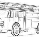 How to draw a Fire Truck   Step by step Drawing tutorials