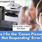 How do I fix the 'Canon Pixma Printer Not Responding' Error?