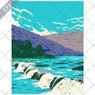 Sandstone New Richmond or New River Falls WPA Poster Art (1375087)   Illustrations   Design Bundles