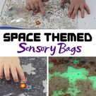 Glow in the Dark Space Sensory Bag for Toddlers