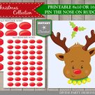 INSTANT DOWNLOAD Printable Christmas Party Pin the Nose on | Etsy