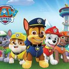 Paw Patrol Cartoon Backdrop UK for Children Photography LV-370 - 6.5'W*5'H(2*1.5m)