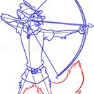 How To Draw Robin Hood, Step by Step, Drawing Guide, by Dawn