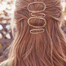 Kendra Scott Zorte Large Hair Clip In Gold