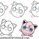 How to Draw Jigglypuff from Pokemon - Easy Step by Step Drawing Tutorial - How to Draw Step by Step Drawing Tutorials