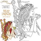 The Kiss  Fairy Tangles Printable Coloring Book Pages &   Etsy