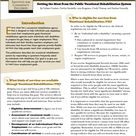 Getting the Most from the Public Vocational Rehabilitation System