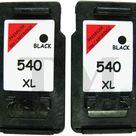 2 x DRUCKER PATRONEN Kompatibel für Canon Pixma MX475 PG540XL Schwarz