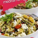 Mediterraner Nudelsalat mit getrockneten Tomaten