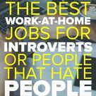 Best Work At Home Jobs for Introverts or People That Hate People