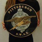 Pittsburgh Police Department (SWAT TEAM) Badge Metal Sign 14