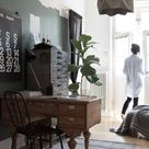 The beautiful workspace of an interior designer