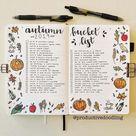 31 Fall Bucket List ideas and Bullet Journal Inspirations