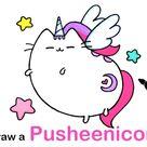 How to Draw a Pusheen Pegasus Unicorn
