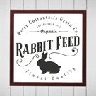 Peter Cottontails Rabbit Feed svg.  Easter Bunny Feed Sack svg Clipart.  Rustic Easter Design Clip art.  Instant Download svg & png.