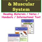 Reading Notes | Skeletal System | Muscular System | PDF of Informational Text / Handouts for 4th-7th