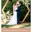 Floral Design Tutorial: Hexagon Arbor Installation