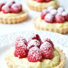 Raspberry & Vanilla Bean Cream Tarts