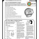4-H Photography Beginning Activity Pages Worksheet for 6th - 9th Grade