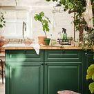 BODBYN Tür, dunkelgrün, 60x60 cm
