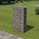 vidaXL Gabion Wall with Covers Galvanised Steel 50x20x100 cm