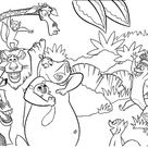 On the island of Lemurs coloring page   Free Printable Coloring Pages