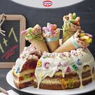 Zuckertüten-Torte zum Schulstart