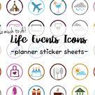 Life Events Emoji Planner Icon Stickers