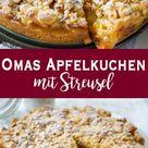 Omas Apfelkuchen mit Streusel (Apfelkrümel) | Rezept | Elle Republic
