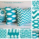 Turquoise Throw Pillows