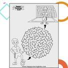 Printable free mazes for kids | Soccer
