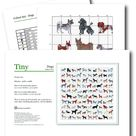 Dog Cross Stitch Pattern (Digital Format PDF) - Modern Cross Stitch Charts by Tiny Cross Stitch Co
