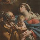 Gaetano Gandolfi, 1776 - The Holy Family - fine art print - Metal print (Aluminium Dibond) / 90x120cm - 35x47