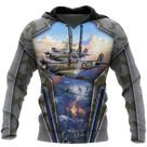 Air Force Aircraft Supermarine Spitfire 3D All Over Printed Shirts for Men and Women AM160102 - Hoodie / XL