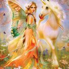 Puzzle Bente Schlick - Fairy Princess and Unicorn