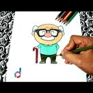 How to draw a Grandpa (easy!) | Step by step drawings