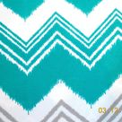 CLEARANCE Turquoise Pillow Cover Chevron Patio Porch Decorative Accent Throw Pillow  Teal Turquoise Gray Zig Zag  Premier Zazzle Fabric