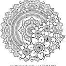 Circular Pattern Form Mandala Flower Henna stockvector (rechtenvrij) 1196255107