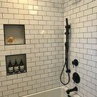 Kohler soaking tub, Moen matte black fixtures